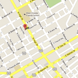 Map for main location in West Chester, PA